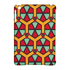 Honeycombs triangles and other shapes patternApple iPad Mini Hardshell Case (Compatible with Smart Cover) by LalyLauraFLM