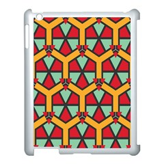 Honeycombs Triangles And Other Shapes Patternapple Ipad 3/4 Case (white) by LalyLauraFLM