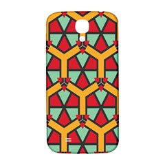 Honeycombs Triangles And Other Shapes Pattern			samsung Galaxy S4 I9500/i9505 Hardshell Back Case by LalyLauraFLM