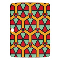 Honeycombs Triangles And Other Shapes Patternsamsung Galaxy Tab 3 (10 1 ) P5200 Hardshell Case by LalyLauraFLM
