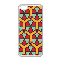 Honeycombs Triangles And Other Shapes Pattern			apple Iphone 5c Seamless Case (white) by LalyLauraFLM