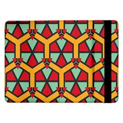 Honeycombs Triangles And Other Shapes Patternsamsung Galaxy Tab Pro 12 2  Flip Case by LalyLauraFLM