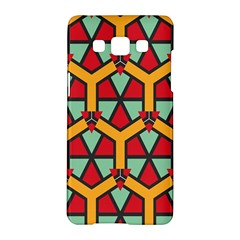 Honeycombs Triangles And Other Shapes Pattern			samsung Galaxy A5 Hardshell Case by LalyLauraFLM