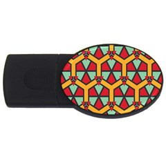 Honeycombs Triangles And Other Shapes Patternusb Flash Drive Oval (4 Gb) by LalyLauraFLM
