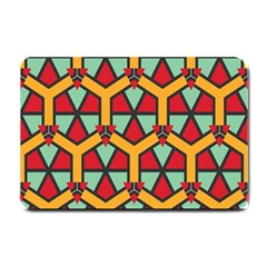 Honeycombs Triangles And Other Shapes Pattern			small Doormat by LalyLauraFLM