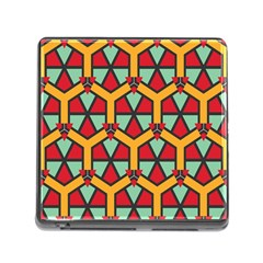 Honeycombs Triangles And Other Shapes Pattern			memory Card Reader (square) by LalyLauraFLM
