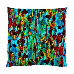 Turquoise Blue Green  Painting Pattern Standard Cushion Cases (two Sides)