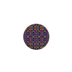 Ethnic Modern Geometric Pattern 1  Mini Buttons by dflcprints