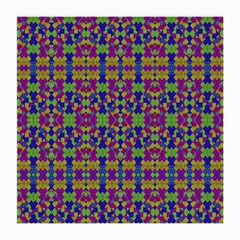 Ethnic Modern Geometric Pattern Medium Glasses Cloth (2 Side) by dflcprints
