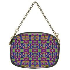 Ethnic Modern Geometric Pattern Chain Purses (one Side)  by dflcprints
