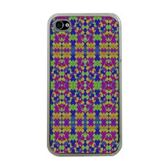 Ethnic Modern Geometric Pattern Apple Iphone 4 Case (clear) by dflcprints