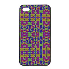 Ethnic Modern Geometric Pattern Apple Iphone 4/4s Seamless Case (black) by dflcprints