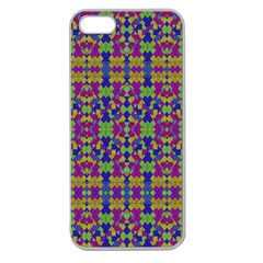 Ethnic Modern Geometric Pattern Apple Seamless Iphone 5 Case (clear) by dflcprints