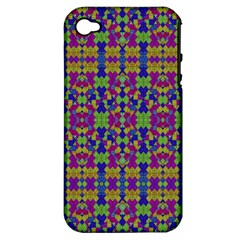 Ethnic Modern Geometric Pattern Apple Iphone 4/4s Hardshell Case (pc+silicone) by dflcprints