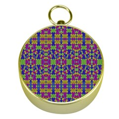 Ethnic Modern Geometric Pattern Gold Compasses by dflcprints