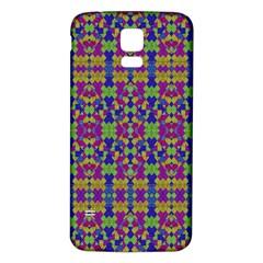 Ethnic Modern Geometric Pattern Samsung Galaxy S5 Back Case (white) by dflcprints