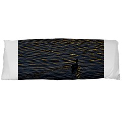Lonely Duck Swimming At Lake At Sunset Time Body Pillow Cases (dakimakura)  by dflcprints