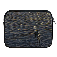 Lonely Duck Swimming At Lake At Sunset Time Apple Ipad 2/3/4 Zipper Cases by dflcprints