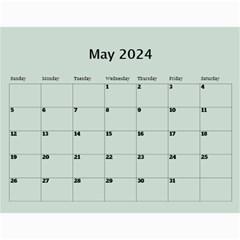 Green Frame Male 2018 Calendar (any Year) By Deborah   Wall Calendar 11  X 8 5  (12 Months)   Q5wert5sd5e8   Www Artscow Com May 2018
