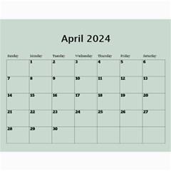 Green Frame Male 2018 Calendar (any Year) By Deborah   Wall Calendar 11  X 8 5  (12 Months)   Q5wert5sd5e8   Www Artscow Com Apr 2018