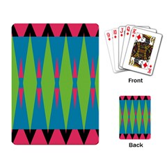 Connected Rhombus			playing Cards Single Design by LalyLauraFLM