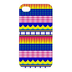 Rectangles Waves And Circles			apple Iphone 4/4s Premium Hardshell Case by LalyLauraFLM
