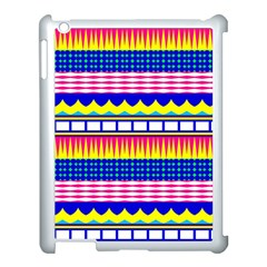 Rectangles Waves And Circles			apple Ipad 3/4 Case (white) by LalyLauraFLM