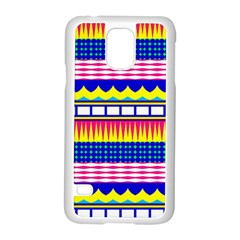 Rectangles Waves And Circlessamsung Galaxy S5 Case (white) by LalyLauraFLM