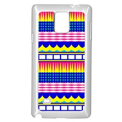 Rectangles waves and circlesSamsung Galaxy Note 4 Case (White) by LalyLauraFLM