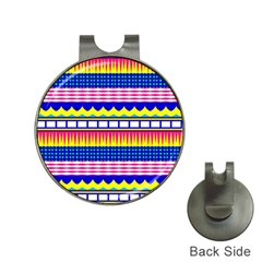 Rectangles Waves And Circlesgolf Ball Marker Hat Clip by LalyLauraFLM