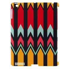 Waves And Other Shapes Patternapple Ipad 3/4 Hardshell Case (compatible With Smart Cover) by LalyLauraFLM