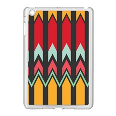 Waves And Other Shapes Pattern			apple Ipad Mini Case (white) by LalyLauraFLM