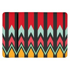 Waves And Other Shapes Patternsamsung Galaxy Tab 8 9  P7300 Flip Case by LalyLauraFLM
