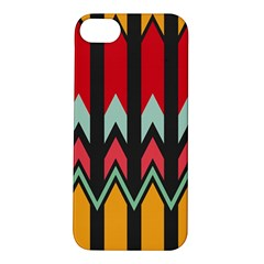 Waves And Other Shapes Pattern			apple Iphone 5s Hardshell Case by LalyLauraFLM