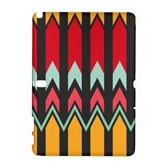 Waves And Other Shapes Patternsamsung Galaxy Note 10 1 (p600) Hardshell Case by LalyLauraFLM