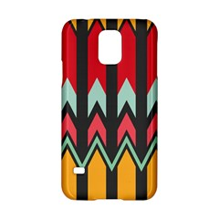 Waves And Other Shapes Patternsamsung Galaxy S5 Hardshell Case by LalyLauraFLM