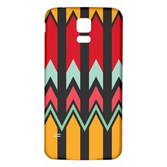 Waves And Other Shapes Patternsamsung Galaxy S5 Back Case (white) by LalyLauraFLM