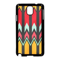 Waves And Other Shapes Pattern			samsung Galaxy Note 3 Neo Hardshell Case (black) by LalyLauraFLM