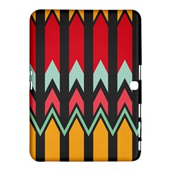 Waves And Other Shapes Pattern			samsung Galaxy Tab 4 (10 1 ) Hardshell Case by LalyLauraFLM