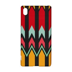 Waves And Other Shapes Pattern			sony Xperia Z3+ Hardshell Case by LalyLauraFLM