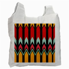 Waves and other shapes pattern Recycle Bag by LalyLauraFLM