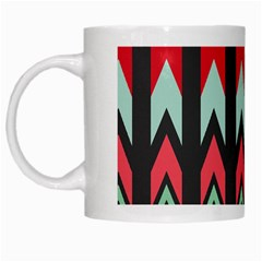Waves And Other Shapes Pattern White Mug by LalyLauraFLM