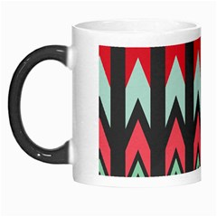 Waves And Other Shapes Pattern Morph Mug by LalyLauraFLM