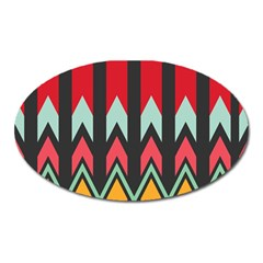 Waves And Other Shapes Pattern			magnet (oval) by LalyLauraFLM