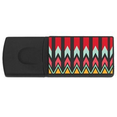 Waves And Other Shapes Patternusb Flash Drive Rectangular (4 Gb) by LalyLauraFLM