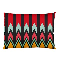 Waves And Other Shapes Pattern			pillow Case by LalyLauraFLM