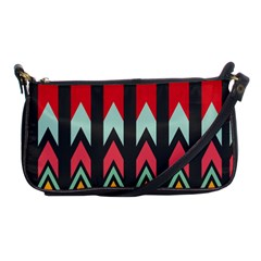Waves And Other Shapes Pattern			shoulder Clutch Bag by LalyLauraFLM