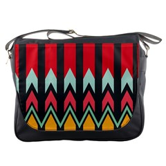 Waves And Other Shapes Pattern			messenger Bag by LalyLauraFLM