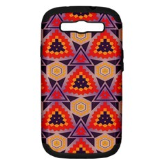 Triangles Honeycombs And Other Shapes Patternsamsung Galaxy S Iii Hardshell Case (pc+silicone) by LalyLauraFLM