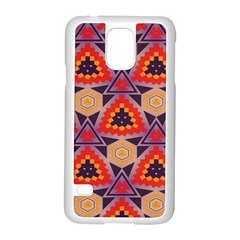 Triangles Honeycombs And Other Shapes Pattern			samsung Galaxy S5 Case (white) by LalyLauraFLM
